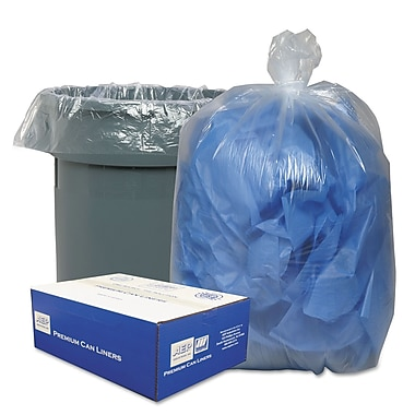 Classic Clear Linear Low-Density Can Liners Trash Bags, 0.71 mil Thickness, Clear, 30 gal, 250/Carton (WEBBC37)