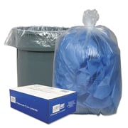Classic Clear Linear Low-Density Can Liners Trash Bags, 0.9 mil Thickness, Clear, 60 gal, 100/Carton (WEBBC60)