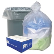 Ultra Plus® Can Liners Trash Bags, 10 microns Thickness, Natural, 30 gal, 500/Carton (WHD3710)
