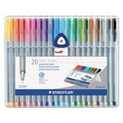 Staedtler® triplus® Fineliner Marker, Assorted, Each (334 SB20A6)