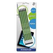 Staedtler® Wopex® Pencil with Stylus, HB #2, 2 mm, Black, 5/Pack (18020BK5)