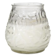 FancyHeat® Victorian Filled Glass Candles, Clear, 12/Carton (FHC F460CL)