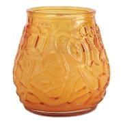 FancyHeat® Victorian Filled Glass Candles, Amber, 12/Carton (FHC F460-AM)