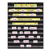 "Scholastic® Standard Pocket Charts, 34"" x x 44"", Black/Clear, Each (573277)"