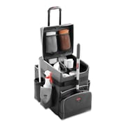 "Rubbermaid® Commercial Executive Quick Cart, Aluminum/Polyester, 14 1/4"" x 16 1/2"" x 21"", Dark Gray (1902466)"