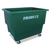"Royal Basket Trucks Produce Cart, 32"" x 46"", Steel; Polyethylene; Rubber, Multi-purpose Cart, Green (R13GNXP24HN)"