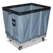 "Royal Basket Trucks Permanent Liner Material Handling Cart, Steel/Vinyl/Wood/Rubber, 20"" x 30"" x 27"", Gray (R06GGPMA3UN)"