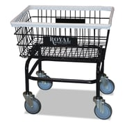 "Royal Basket Trucks Wire Laundry Cart, 21"" x 26"", Steel; PVC; Rubber, Multi-purpose Cart, Black (R27BKXWA5UN)"