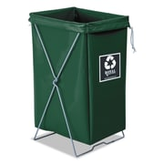 "Royal Basket Trucks Hamper Kit, 15"" x 16"", Steel; Vinyl, Utility Cart, Green (R00EEXEBK)"