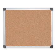 "MasterVision® Value Cork Bulletin Board with Aluminum Frame, 24"" x 36""Silver (CA031170)"