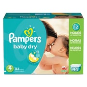Pampers® Baby Dry® Diapers, Size 4, 144/Carton (10037000862380)