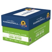 Hammermill® Color Copy Digital Cover Stock, 8 1/2 x 11, Photo White, 1500/Carton (120024)