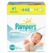 Pampers® Sensitive Baby Wipes, 448/Carton (10037000195136)