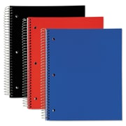 TOPS™ Poly Notebook, Black; Blue; Red, 3-Subjects, 8 x 11, Each (59259)
