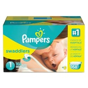 Pampers® Swaddlers Diapers, Size 1, 168/Carton (86371)
