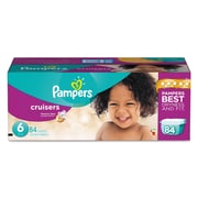 Pampers® Cruisers® Diapers, Size 6, 84/Carton (10037000862854)