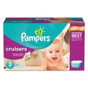 Pampers® Cruisers® Diapers, Size 3, 140/Carton (10037000862823)