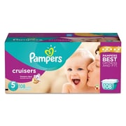 Pampers® Cruisers® Diapers, Size 5, 108/Carton (10037000862847)