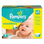 Pampers® Swaddlers Diapers, Size 2, 148/Carton (10037000863721)