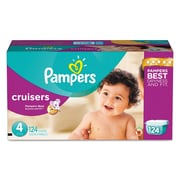 Pampers® Cruisers® Diapers, Size 4, 124/Carton (10037000862830)