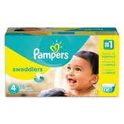 Pampers® Swaddlers Diapers, Size 4, 116/Carton (86374)
