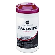 "Sani Professional® Sani-Wipe® Surface Sanitizing Wipes, 7 3/4"" x 10 1/2"", Unscented (NIC Q94384EA)"