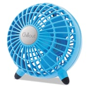 """Honeywell Chillout® USB or AC Adapter Personal Fan, 6 3/10"""" x 6 3/10"""" x 6 3/10"""", Teal (GF3T)"""