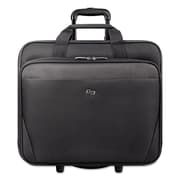 "SOLO® Classic 17.3"" Rolling Case, Polyester, 16 1/2"" x 8"" x 14 1/4"", Black (CLS9104)"