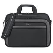 """SOLO® Pro 17.3"""" Briefcase, Polyester, 17"""" x 5 1/4"""" x 13"""", Black/Gray (CLA3144)"""