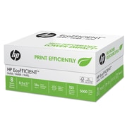 HP EcoFFICIENT Paper, 8 1/2 x 11, White, 5000/Carton (216000)