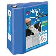 Avery® Heavy-Duty View Binder with Locking EZD™ Rings, 11 x 8 1/2, View, Each (79330)