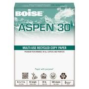 Boise ASPEN 30 Multi-Use Recycled Paper, 8 1/2 x 11, White, 5000/Carton (054901)