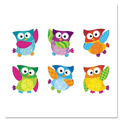 TREND Classic Accents Variety Pack, Classroom Decorations-Owl-Stars, 6/Pack (T10996) TEPT10996