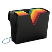 Smead® ColorVue Expanding File with SuperTab®, Black/Assorted, Letter, Each (70722)
