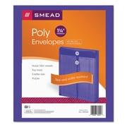 Smead® Poly String & Button Interoffice Envelopes, Transparent Purple, 5/Pack (89544)