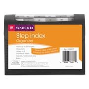 Smead® Step Index Organizer, Black, Letter, 12/Each (70901)