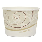 "SOLO® Cup Company Single Poly Paper Containers, 4 1/5""-Diameter, 12 oz, 20/Carton (SCC VS512SYM)"