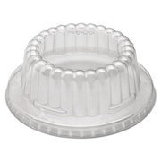 Solo® Cup Company Flat-Top Dome PET Plastic Lids, Clear, 1000/carton (DF12-0090)