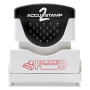 Accustamp2 Pre-Inked Shutter Stamp with Microban®, Red, Each (035583)