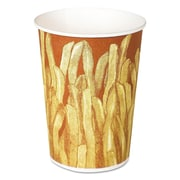 "SOLO® Cup Company Paper French Fry Cups, 3 2/5""-Diameter, 12 oz, 1000/Carton (GRS12-00021)"
