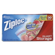 "Ziploc® Double Zipper Storage Bags, Zipper Lock, 9 3/5"" x 8 1/2"", Clear, 9/Carton (CB003103)"