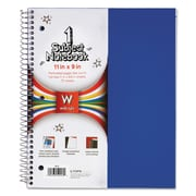 TOPS™ Poly Notebook, Black; Blue; Red, 1-Subjects, 8 x 11, Each (59253)