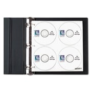 C-Line® CD/DVD Ring Binder Kit, 80 Discs, Each (61938)