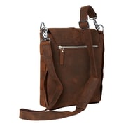 Vagabond Traveler Messenger Bag; Dark Brown