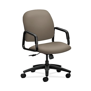 HON® Solutions Seating High-Back Chairs, Center-Tilt, Fixed Arms, Clover Fabric