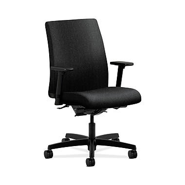 HON® Ignition Low-Back Task Chairs, Synchro-Tilt, Back Angle, Adjustable Arms, Confetti Fabric
