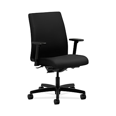 HON® Ignition Low-Back Task Chairs, Synchro-Tilt, Back Angle, Adjustable Arms, Tectonic Fabric
