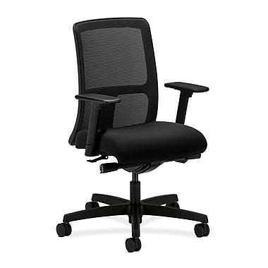 HON® Ignition Low-Back Mesh Task Chairs, Synchro-Tilt, Adjustable Arms, Confetti Fabric