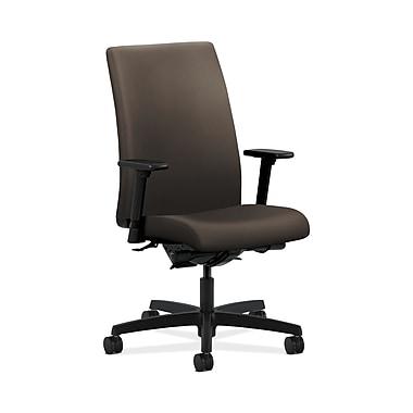 HON® Ignition Mid-Back Task Chairs, Synchro-Tilt, Back Angle, Adjustable Arms, Fabric