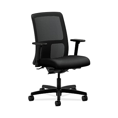 HON® Ignition Low-Back Mesh Task Chairs, Synchro-Tilt, Back Angle, Adjustable Arms, Confetti Fabric